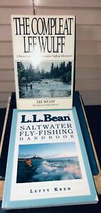The Compleat Lee Wulff Angling Adventures Book & LL Bean Saltwater Flyfishing Bk