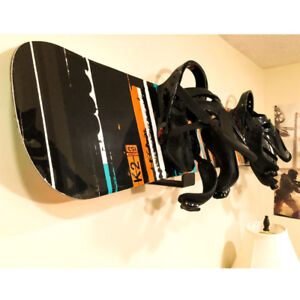 Aluminum Ski Snowboard Storage Wall Mount Rack Skateboard Display Rack