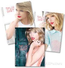 Taylor Swift Spiral Notebooks - Set of 3 - 8.5x11 - School Supplies