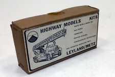 vintage Highway Models Leyland/Metz Fire Engine White Metal Kit 4mm 1/76 OO