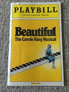 Beautiful The Carole King Musical Playbill Jessie Mueller #1330
