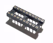 25PCS IC Sockets DIP-20 Machined Round Contact Pins Holes 2.54mm DIP20 DIP 20