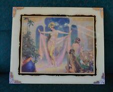 1920's-30's Gorgeous Harem Girls SUPERB Art Deco Reverse on Glass & Chrome Frame