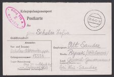 GERMANY, 1941. POW Post Card, Oflag VII A, Alt Sandez