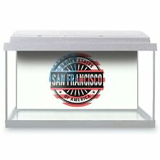 Fish Tank Background 90x45cm - San Francisco USA California Flag  #6053