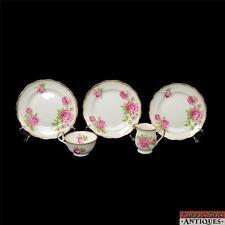 5 Pc Royal Standard Orleans Rose China Set Cup Dessert Plates Creamer Gilded VTG