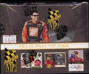 Press Pass VIP 2006 Racing pack Hobby box MINT NASCAR