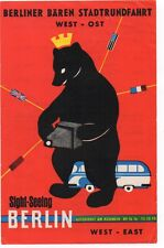 1960 Advertising Flier for Sightseeing in Berlin w great Bear w/ Camera Graphics