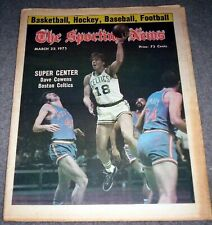 BOSTON CELTICS 1975 DAVE COWENS COVER FEATURE NO LABEL SPORTING NEWS