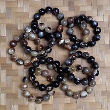 Lot 10 Pcs Handmade Buffalo Horn 20 MM Bracelet 12 Beads #GT23