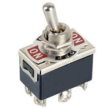 1xBlack 6-Pin Toggle DPDT ON-OFF-ON Switch 15A 250V Mini Switches E-TEN1322 EPYF