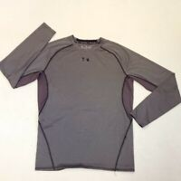 UNDER ARMOUR HEAT GEAR  COMPRESSION  SHIRT  2XL LONG SLEEVES MENS  GRAY