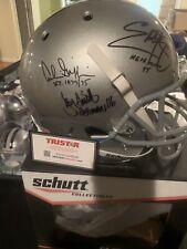 Smith Griffin George Signed Ohio State F/S Schutt Helmet W/ Heisman- JSA W Auth