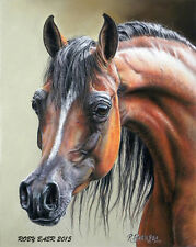 """""""Arabian Mare"""" Horse Art Print 8"""" x 10"""" Giclee Equine Image By Roby Baer PSA"""