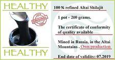 Mumijo Shilajit 200 grams, Shilajeet, Mumiyo, Asphaltum, Mineral Pitch, Salajeet
