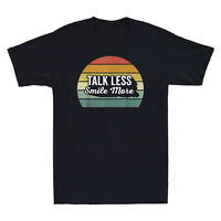 Talk Less Smile More Hamilton Retro Vintage Men's Short Sleeve T-Shirt Cotton