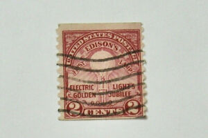 1929 Electric Light Golden Jubilee 2 Cent U.S. Stamp