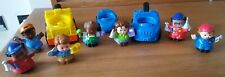 Fisher Price little people figures and cars playset bundle