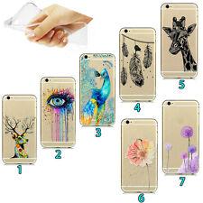 Très mince Etui Housse Coque Transparent TPU Gel Cover Case pour Samsung iPhone