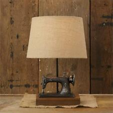 New Primitive Antique Style VINTAGE SEWING MACHINE LAMP Electric Table Light