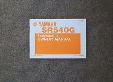 1983 YAMAHA SR540G Owners Manual    # LIT-12628-00-49   (NOS)