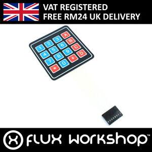 3pcs 4x4 Membrane Matrix Keypad 8 pin Pi Raspberry Uno Arduino Flux Workshop
