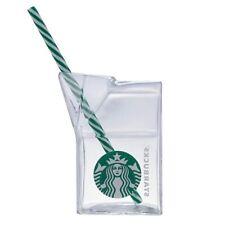 2018 Taiwan Starbucks Glass Mug With Straw 400ml , NEW