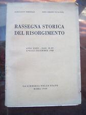 1948 RASSEGNA STORICA DEL RISORGIMENTO REPUBBLICA ROMANA MAZZINI FUSINATO SAVOIA