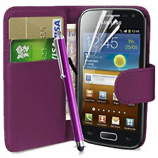 PURPLE WALLET FLIP CASE POUCH PU LEATHER COVER FOR SAMSUNG GT-I9000 GALAXY S