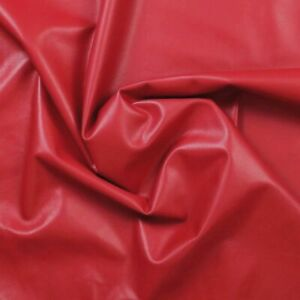 Lamb nappa leather 0.7mm Small pieces RUBY RED Beautifully soft Smooth N248