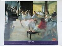 Degas Art Print Exhibition Poster the Dance Class 1988 1989 Metropolitan Museum