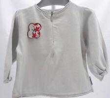 Jean Bourget tee-shirt manche longue gris motif fleur bébé fille 6 mois