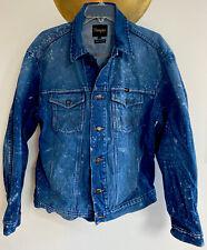Vintage Wrangler Blue/Acid Washed Denim Jean Jacket Button Front Men's Xl