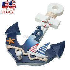 Wooden Nautical Anchor Wall Hanging Hook Ship Starfish Coat Door Rack Home Decor
