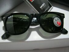 Authentic Ray-Ban RB2140 Wayfarer 901/58 Black Frame 50mm Polarized Sunglasses