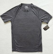 Layer 8 Short Sleeve Performance T-Shirt Mens Size S Gray Wick Dry