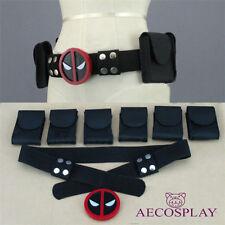 Us Ship Deadpool X-Men Superhero Metal Belt Accessories Costume Cosplay Props