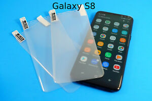 Full Cover Plastic or Blue Tempered Glass Protector LOT for Samsung Galaxy S8