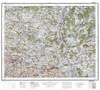 MAP ANTIQUE 1932 POLISH MILITARY Lublin AREA POLAND REPLICA POSTER PRINT PAM0483