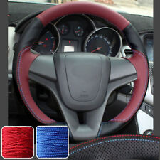 Sporty Steering Wheel Covers Hand Sew Wrap for Chevrolet Cruze 2011-15 12 13 14