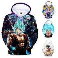 3D Print DragonBall Z Super Saiyan Goku Hoodie Sweatshirt Pullover Sweater Coat