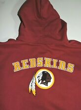 WASHINGTON REDSKINS hoody sweatshirt large Reebok Team Apparel zip up burgundy
