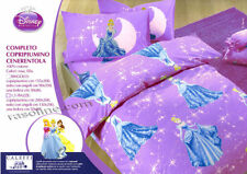 Set Copripiumino Lenzuola Principesse Cenerentola Lilla Viola Disney Caleffi
