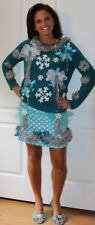 Deb Rottum Ugly Tacky Christmas Sweater Dress Outfit  Size S M - Hanukkah