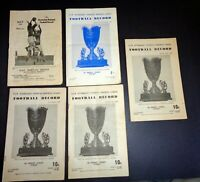 5 x NSW AFL Australian National Football League Record 1950s & 1960s Programs #C