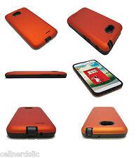 Cell-Nerds Dual case for LG Optimus L70 (Metro PCS) or Optimus Exceed II Orange