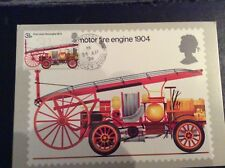 PHQ 6 Fire Engine FDC front stamped unused back