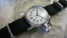 WW2 ELGIN MILITARY USN BUSHIPS CANTEEN WATCH RARE WHITE DIAL !