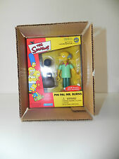 The Simpsons Pin Pal Mr. Burns RARE 2001 Playmates Toyfare Action figure +Mailer
