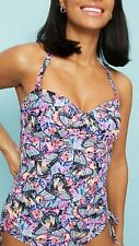Women's butterfly print halter neck bandeau Swimming Costume size 10